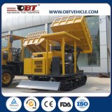 Motor diesel Obra Dumper con orugas de goma