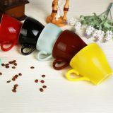 150ml de Kop van de Espresso van Latte van de Kop van de Tulp van de Kop van het Kant van Amerika met Schotel
