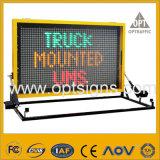El tráfico por carretera OEM Optraffic signos LED VM montados sobre camiones