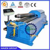 Machine de plaque du rouleau W12S-50X3000 4 de dépliement en acier et de roulement