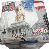ニューヨークPUの革折る記憶のトランクおよび腰掛け