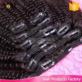 卸し売りRemyの人間の毛髪の拡張7PCS 120g前に着色されたクリップ毛