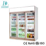 Energiesparende Handelsbildschirmanzeige-aufrechter Getränkekühlraum