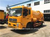 Dongfeng 4X2 하수 오물 진공 흡입 트럭 8-9m3 하수 오물 흡입 트럭