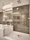 Bathtroom sem caixilho da porta de vidro de chuveiro em vidro temperado
