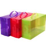 プラスチック折る靴箱(明確な靴箱)