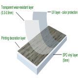 Résistant à l'eau de 6 mm antiglisse WPC planchers de vinyle