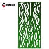 Ideabond 4*8 Pés Painel Composto de alumínio decorativas grelha CNC