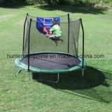 deporte de los 8FT, aptitud, trampolín al aire libre con recinto de la seguridad y aro de baloncesto