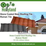 Feuille de toit en métal revêtue de pierre colorée imperméable à l'eau (carrelage romain)