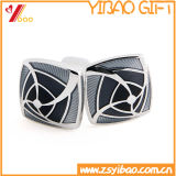 Bouton de manchette de mode de noir d'approvisionnement d'usine pour le cadeau (YB-cUL-11)