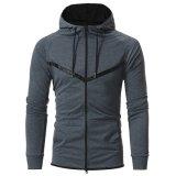 Xiaolv88 повседневный Zip-up худи легкий колпачковая Sweatshirt модной спортивной худи чехол для мужчин