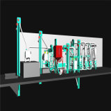 완전한 세트 중간 가늠자 옥수수 선반 기계