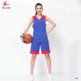 Healongの女性のための上の販売のスポーツ・ウェアの昇華印刷のバスケットボールジャージー