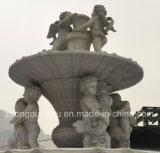 De natuurlijke Witte Marmeren Snijdende Fontein van het Water, de Fontein van het Water van het Beeldhouwwerk