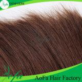Dunkles Brown-malaysisches menschliches Jungfrau-Haar mit Remy Haar-Perücke