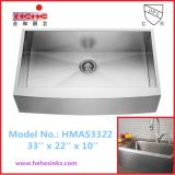 El delantal frente a mano de acero inoxidable fregadero con Cupc aprobado, Cortijo Fregadero, lavabo artesanal (HMAS3322)