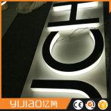 Carta retroiluminada de aço inoxidável de 304 graus