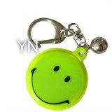Catena chiave riflettente su misura di sorriso