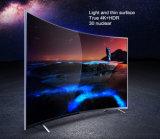 55inch UHD 4K gebogener Fernsehapparat
