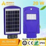 1개의 태양 에너지 에너지 태양 거리 LED 빛에서 외부 20W 전부