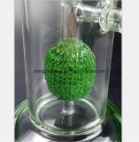 Conduite d'eau de reprise de filtre en verre vert conduite d'eau de 13.39 pouces