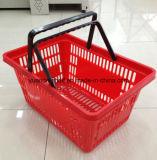 Coutume de panier de 2016 plastiques tout le panier en plastique de supermarché de promotion de panier de taille