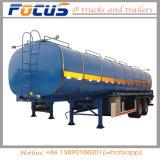 45m3 3essieux de bitume de chauffage du réservoir de liquide semi-remorque