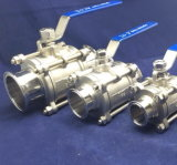 Корпус из нержавеющей стали SS304 пневматического шарового клапана управления подачей воздуха