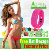 Impreso haciendo publicidad de la venda de reloj del Wristband del silicón (RichgiftA102)