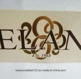 Diseño de lámina de oro de papel sin estucar Hangtag con hilo