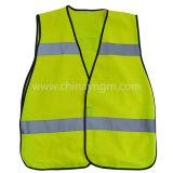 Veste de proteção reflexiva infantil com fita reflexiva