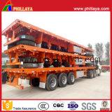 Tri-Axles 60tonnes camion à plateau de transport de marchandises semi-remorque lit plat