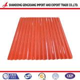 Colorare la lamiera di acciaio rivestita di PPGI per le mattonelle di tetto