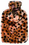 Coperchio di lusso della pelliccia della stampa del leopardo con la bottiglia di acqua calda delle BS