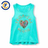 새로운 반짝임에 의하여 인쇄되는 소녀 탱크탑 소매 없는 셔츠