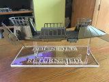 Crémaillère d'étalage claire acrylique faite sur commande