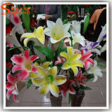 가정 훈장 플라스틱 인공적인 백합 꽃