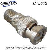 Hembra F del conector del CCTV al varón BNC (CT5042)