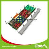 Gehäuse-Trampoline-Park mit Sicherheitsnetz und Leuchtstoff springende Bett-Trampoline für Kinder