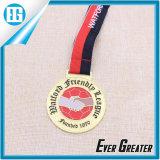 Изготовленный на заказ серебряная медаль Sterling балета танцульки спортов размера