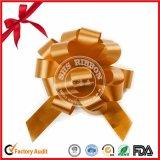 Arqueamiento clasificado del tirón del POM-POM del color con la cuerda de rosca del oro para la acción de gracias