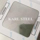 Feuille Kem009 gravée en relief par couleur d'argent d'acier inoxydable pour des matériaux de décoration