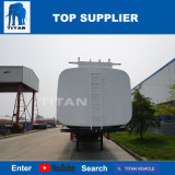 A Titan Veículo cisterna de transporte de óleo Tri-Axle reboques com 54, 000 litros semi reboque Tanque de Combustível