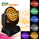 6en1 36PCS 18W UV RGBWA zoom Wash LED de cabeza móvil
