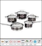 Het Nieuwe Ontwerp van Cookware van het Roestvrij staal van de Kustvaart van het overdrukplaatje