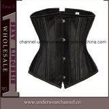 Bodysuit de couro feminino sexy com espartilho de lingerie de saia (TA9192)