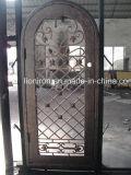 Portas feitas sob encomenda do ferro feito do tipo das portas de entrada e da posição exterior
