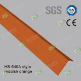 PVC L parede da forma fora do protetor de canto para a proteção da parede com cor de madeira