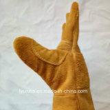 Двойной Palm коровы Split рабочие перчатки из натуральной кожи
